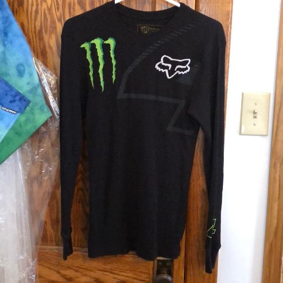 19e5596b36 fox racing Shirts | Monster Energy Thermal Shirt | Poshmark